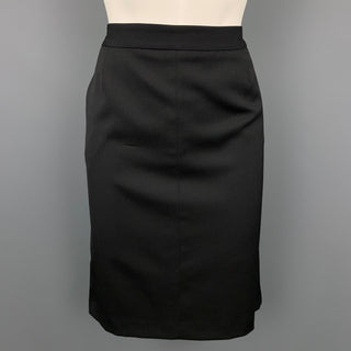 CoSTUME NATIONAL Size 6 Black Wool / Spandex Pencil Skirt