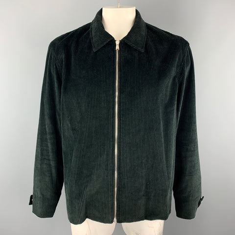 DEVEAUX New York Size XL Black Corduroy Zip Up Jacket
