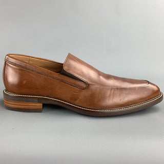 COLE HAAN Size 10.5 Tan Solid Leather Slip On Loafers