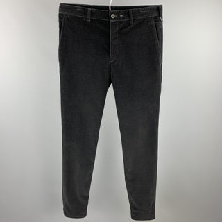 RAG & BONE Size 32 Black Corduroy Button Fly Casual Pants