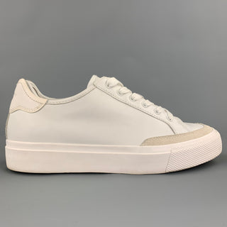 RAG & BONE Army Size 10 White Suede Leather Lace Up Sneakers