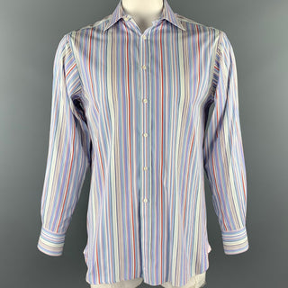 THOMAS PINK Size M Multi-Color Stripe Cotton Button Up Long Sleeve Shirt