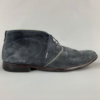 OLIVER SWEENEY Size 11 Charcoal Suede Chukka Boots
