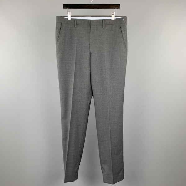 ETRO Size 34 x 35 Dark Gray Lana Wool Dress Pants