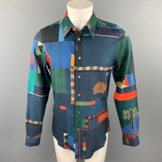 PS by PAUL SMITH Size M Multi-Color Print Cotton Button Up Long Sleeve Shirt