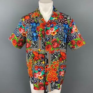 VERSACE JEANS COUTURE Size S Multi-Color Print Viscose Camp Short Sleeve Shirt