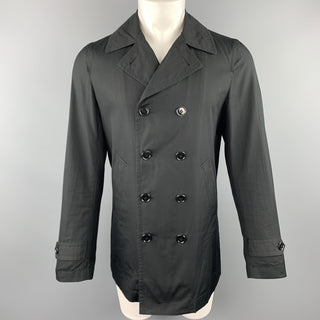 COMME des GARCONS HOMME PLUS Size M Black Cotton Double Breasted Coat