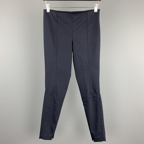 THE ROW Size XS Navy Slim Leg Riding Style Dress Pants