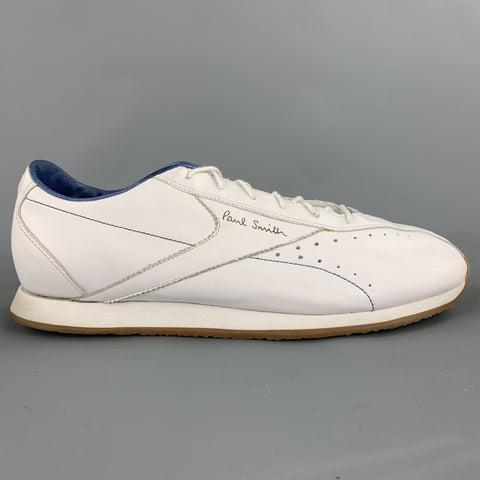 PAUL SMITH x REEBOK Size 11 White Leather Lace Up Sneakers