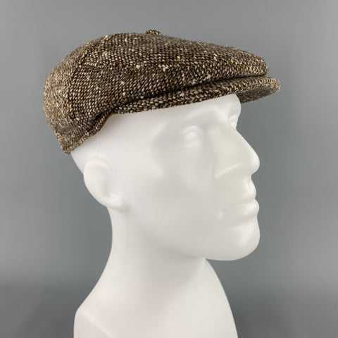 GOORIN BROTHERS Size XL Brown Tweed Wool Hat