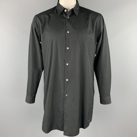 COMME des GARCONS HOMME PLUS Size L Black Cotton Sleeve Shirt