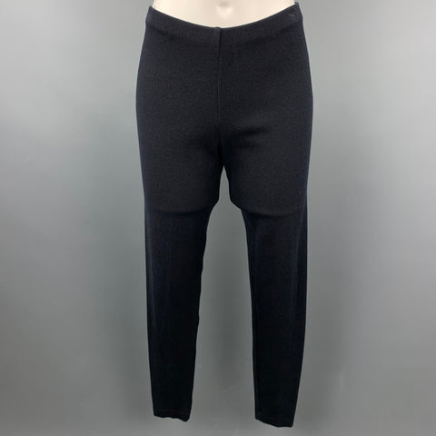 DONNA KARAN Size M Black Rayon Blend Leggings