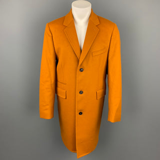 PAUL SMITH Size 42 Tan Wool / Cashmere Notch Lapel Coat
