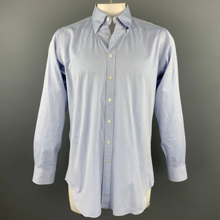 HAMILTON Size L Blue Pinstripe Cotton Button Down Long Sleeve Shirt