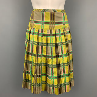 MARC by MARC JACOBS Size 8 Chartreuse Green Silk Skirt