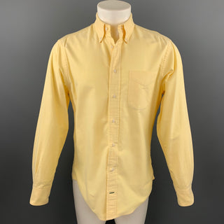 GITMAN VINTAGE Size M Yellow Cotton Long Sleeve Shirt