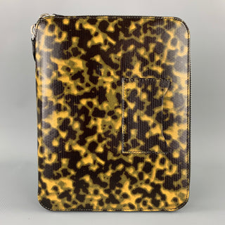 EMPORIO ARMANI Olive Camouflage Patent Leather iPad Case / Pouch
