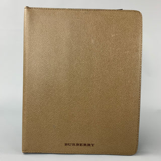 BURBERRY Olive Pebble Grain Leather iPad Case