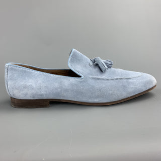 KURT GEIGER Size 10 Powder Blue Tassels Loafers