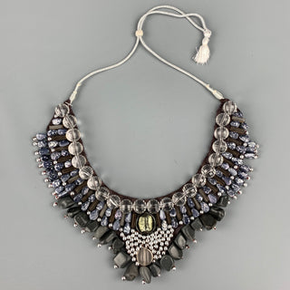 ROBERTA FREYMANN Grey Embellished Layered Necklace