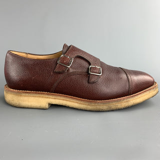 MARC MCNAIRY Size 10 Brown Leather Double Monk Strap Loafers