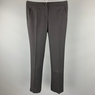 THEORY Size 0 Charcoal Wool / Spandex Straight Leg Dress Pants