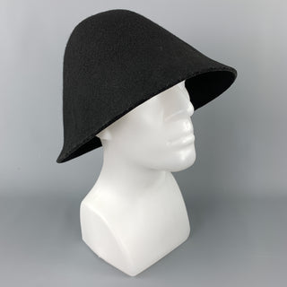 COMME des GARCONS HOMME PLUS Black Wool Structured Hat