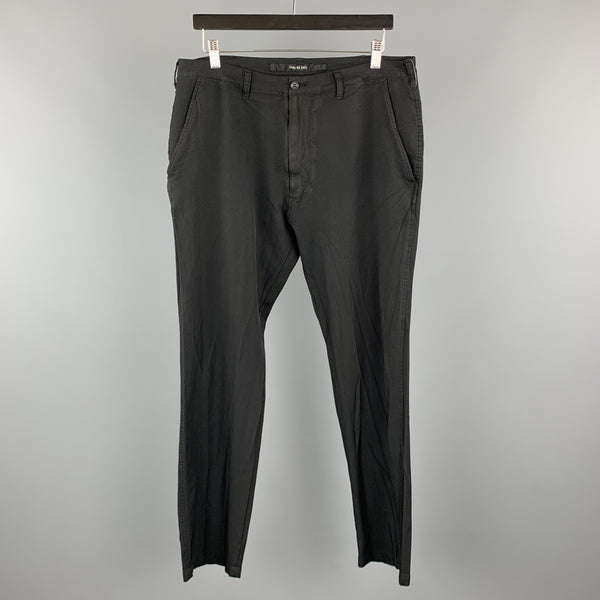 SAGE DE CRET Size L Black  Polyester Zip Fly Casual Pants