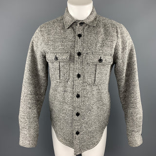 SATURDAYS SURF NYC Size M Grey Heather Acrylic / Wool Shirt Jacket