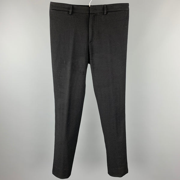 CoSTUME NATIONAL Size 30 Black Wool Zip Fly Dress Pants