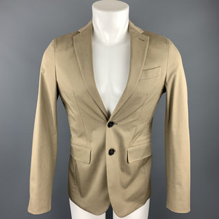 DSQUARED2 Size 36 Taupe Cotton Blend Notch Lapel Sport Coat