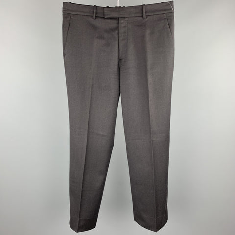 THEORY Size 36 Charcoal Wool Zip Fly Dress Pants