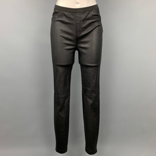 BAGATELLE.CITY Size S Black Leather Stretch Jeggings