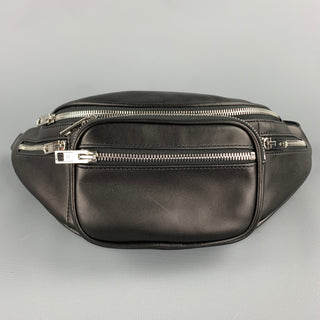 ALEXANDER WANG Attica Black Leather Chain Fanny Pack Bag