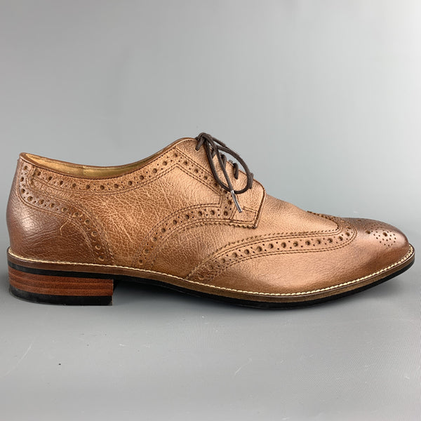 COLE HAAN Size 8 Tan Brogues Leather Brogue Lace Up