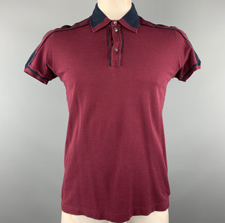 D&G by DOLCE & GABBANA Size L Burgundy Pique Polo