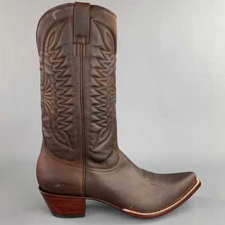 HERITAGE BOOT Size 10.5 Brown Leather Cowboy Boots
