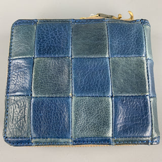 DAMASQUINA Patchwork Navy & Blue Leather Wallet