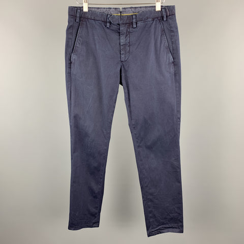 EREDI PISANO Size 28 x 30 Navy Cotton / Elastane Zip Fly Pants