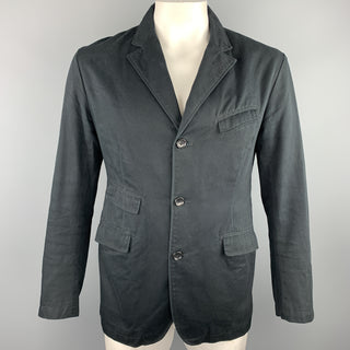 ENGINEERED GARMENTS Size 42 Navy Cotton Notch Lapel Sport Coat