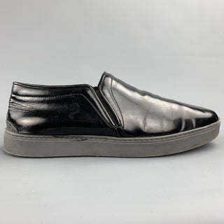 RAG & BONE Size 10 Black Leather Slip On Sneakers