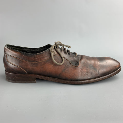 HUDSON Size 12 Brown Antique Leather Lace Up Shoes