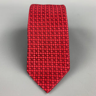 CHRISTIAN LACROIX Red Diamond Silk Tie