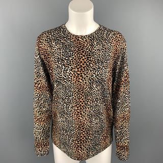 EQUIPMENT Size XS Black & Tan Cheetah Print Wool Pullover