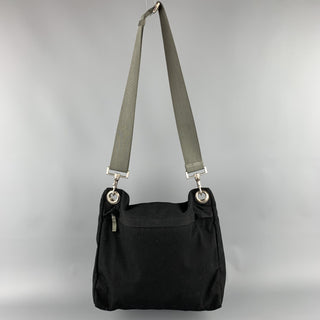 PRADA Black Polyamide Canvas Messenger Handbag