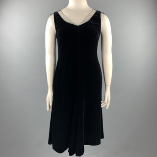 GIORGIO ARMANI Size 10 Black Mesh Viscose / Silk Shift Dress