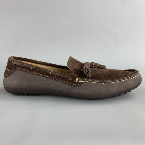 H by HUDSON Size 9 Brown Suede Drivers Tassel Loafers