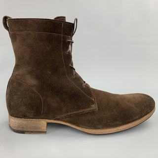 BLOKES Size 11 Brown Suede Lace Up Ankle Boots