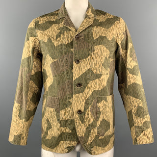 KAPITAL Chest Size M Olive Camo Cotton Notch Lapel Jacket