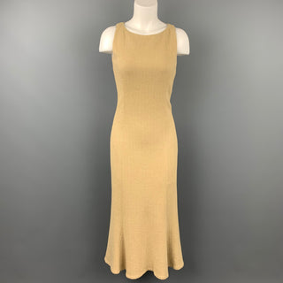 RALPH LAUREN Black Label Size 2 Beige Textured Mermaid Dress